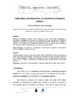 Competência informacional do contexto da pesquisa jurídica.