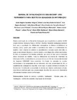 Manual de catalogação do SBU/UNICAMP: uma ferramenta para a gestão da qualidade da informação.