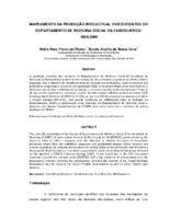 Mapeamento da produção intelectual dos docentes do Departamento de Medicina Social  da FAMED/UFRGS: 2006-2008.
