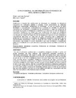 O profissional da informação em atividades de inteligência competitiva.