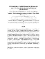 O reconhecimento dos atores sociais na produção científica: uma abordagem bibliométrica dos agradecimentos.