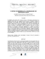 O serviço de referência e a acessibilidade aos  deficientes visuais.