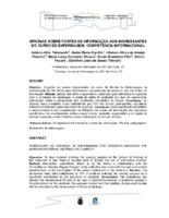 Oficinas sobre fontes de informação aos ingressantes do Curso de Enfermagem: competência informacional.