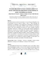 Pesquisa bibliográfica para o desenvolvimento de novas competências/habildades do profissional de saúde: experiência da UFSM/RS.
