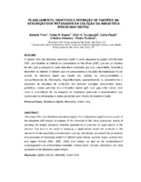 Planejamento, objetivos e definição de padrões na descrição dos metadados da coleção da Biblioteca Brasiliana Digital.