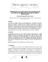 Preservação da autenticidade e da integridade de documentos em bibliotecas digitais de teses e dissertações.