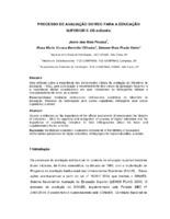 Processo de avaliação do MEC para a educação superior e os e-Books.
