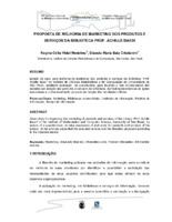 """Proposta de melhoria de marketing dos produtos e serviços da Biblioteca """"Prof. Achile Bassi""""."""