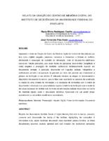 Relato da criação do Centro de Memória Digital do Instituto de Geociências da Universidade Federal do Pará - UFPA.