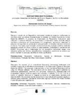 Repositório institucional: produção intelectual do Instituto de Ensino Superior do Sul do Maranhão - IESMA.