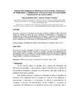 Sistema informatizado em biblioteca universitária: o processo de implantação na Biblioteca do Instituto de Física da Universidade Federal do Rio de Janeiro (UFRJ).
