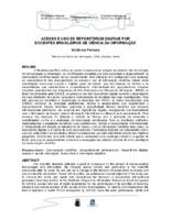 Acesso e uso de repositórios digitais por docentes brasileiros de Ciência da Informação. (Pôster)