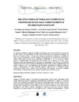Biblioteca Digital de Trabalhos Acadêmicos da Universidade de São Paulo: desenvolvimento e implementaçao na EESC/USP. (Pôster)