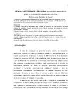 Ciência, universidade e pesquisa: entreolhares acerca dos e-prints no processo de comunicação científica. (Pôster)