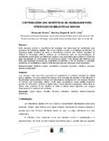 Contribuições das heurísiticas de usabilidade para interfaces de bibliotecas digitais. (Pôster)
