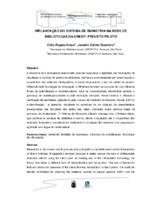 Implantação do sistema de biometria na rede de Bibliotecas da UNESP: projeto piloto.(Pôster)