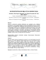 Macroestratégias em bibliotecas universitárias. (Pôster)