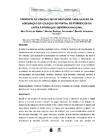 Proposta de criação de um indicador para análise da adequação da coleção o Portal de Periódicos da CAPES à produção científica nacional. (Pôster)