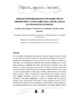 Serviços disponibilizados em sites de bibliotecas universirárias; o caso da Biblioteca José de Alencar da Faculdade de Letras/UFRJ. (Pôster)