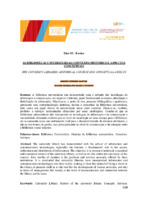 As bibliotecas universitárias: contexto histórico e aspectos conceituais.