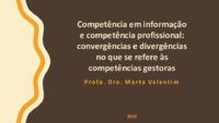 Competência em informação e competência profissional: convergências e divergências no que se refere às <br /><br /> competências gestoras