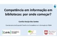 Competência em informação em bibliotecas: por onde começar?