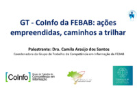 GT - CoInfo da FEBAB: ações empreendidas, caminhos a trilhar