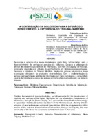 A contribuição da biblioteca para a difusão do conhecimento: a experiência do Tribunal Marítimo