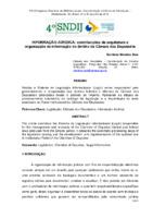 Informação jurídica: contribuições da arquitetura e organização da informação no âmbito da Câmara dos Deputados