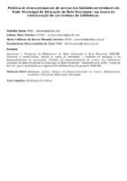 Política de desenvolvimento de acervo das bibliotecas escolares da Rede Municipal de Educação de Belo Horizonte: em busca da estruturação de um sistema de bibliotecas.