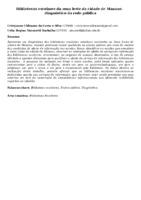 Bibliotecas escolares da zona leste da cidade de Manaus:   diagnóstico da rede pública