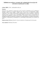 Bibliotecas escolares: proposta de implantação de serviços de referência tradicional e on line