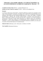 Educação e diversidade cultural: a Lei Federal 10.639/03 e os acervos de bibliotecas escolares do município de São José - SC