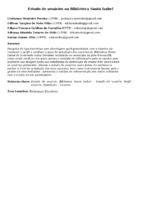 Estudo de usuários na Biblioteca Santa Izabel