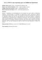 Lei 12.244/10: uma esperança para as bibliotecas brasileiras