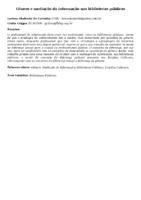 Gênero e mediação da informação nas bibliotecas públicas