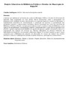 Projeto Educativo da Biblioteca Pública e Escolar do Município de Itajaí/SC