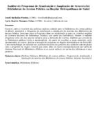 Análise do Programa de Atualização e Ampliação de Acervos das Bibliotecas de Acesso Público na Região Metropolitana de Natal