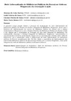 Rede Informatizada de Bibliotecas Públicas do Paraná no Sistema Pergamum: da concepção à ação