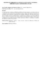 SISTEMA DE BIBLIOTECAS PÚBLICAS DE SANTA CATARINA: APRESENTAÇÃO E REFLEXÕES ATUAIS