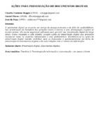 AÇÕES PARA PRESERVAÇÃO DE DOCUMENTOS DIGITAIS