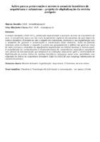 Ações para a preservação e acesso à memória brasileira de arquitetura e urbanismo - projeto de digitalização da revista acrópole