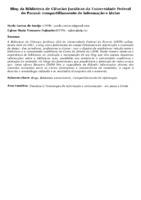 Blog da Biblioteca de Ciências Jurídicas da Universidade Federal do Paraná: compartilhamento de informação e ideias