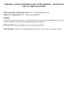 E-BOOKS, LIVRO ELETRÔNICO OU LIVRO DIGITAL:  ANÁLISE DE USO NA ÁREA DA SAÚDE.