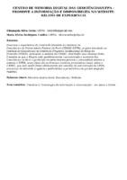CENTRO DE MEMORIA DIGITAL DAS GEOCIÊNCIAS/UFPA – PROMOVE A INFORMAÇÃO E DISPONIBILIZA NO WEBSITE: RELATO DE EXPERIENCIA