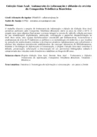 Coleção Sino Azul:  tratamento da informação e difusão da revista da Companhia Telefônica Brasileira