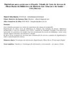 Digitalizar para preservar e difundir: Estudo de Caso do Acervo de Obras Raras da Biblioteca de História das Ciências e da Saúde - COC/Fiocruz