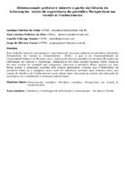 Disseminando práticas e saberes a partir da Ciência da Informação:  relato de experiência do periódico Perspectivas em Gestão & Conhecimento