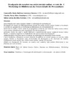 Divulgação de eventos em redes sociais online: o caso do  I Workshop de Bibliotecas da Universidade de Pernambuco