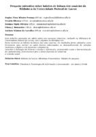 Pesquisa interativa sobre hábitos de leitura dos usuários da Biblioteca da Universidade Federal de Lavras